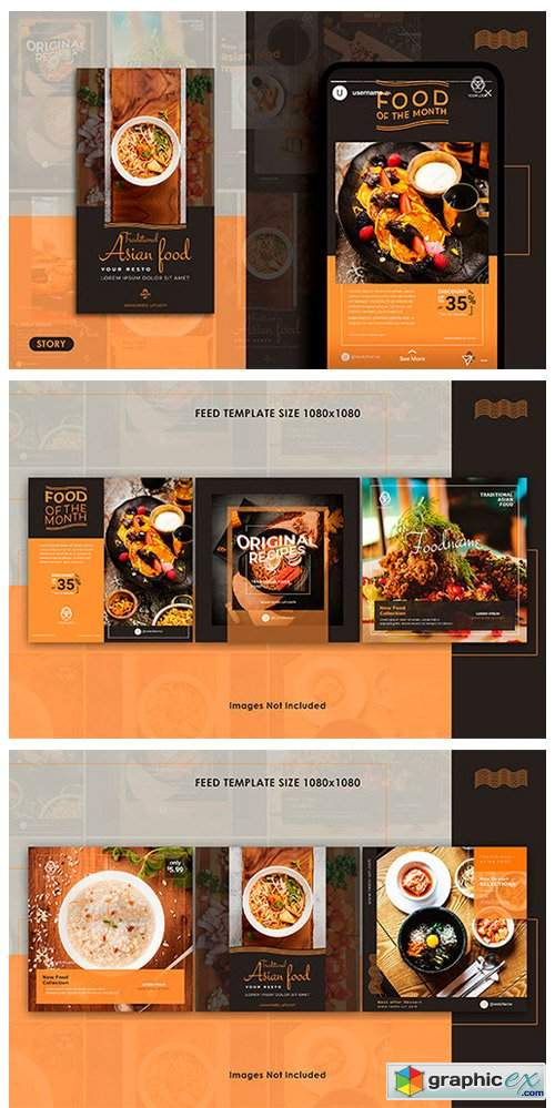 Food Instagram Feed & Stories Templates