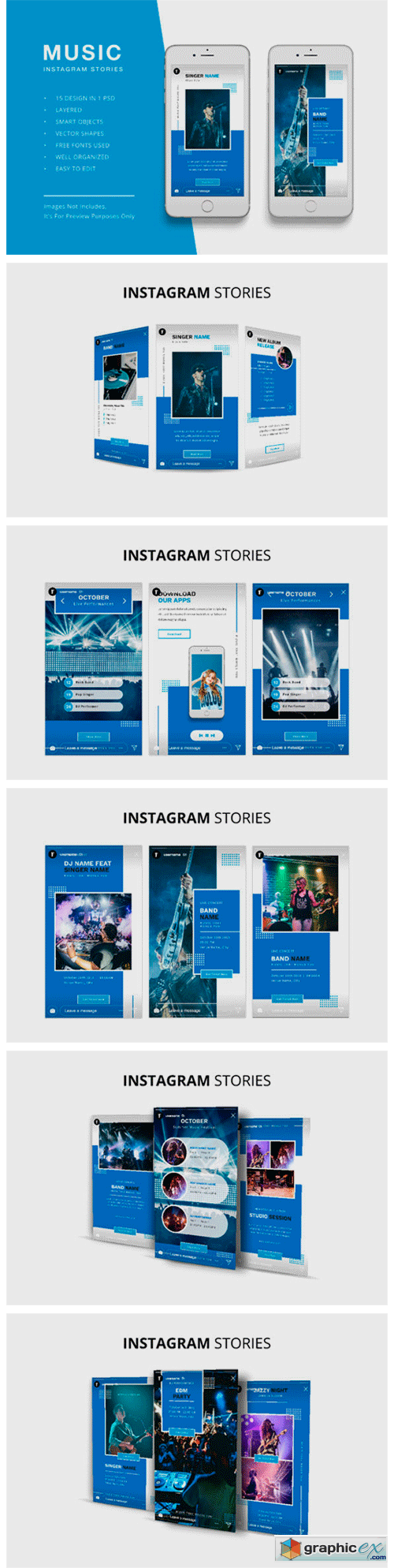 Music Instagram Stories Template