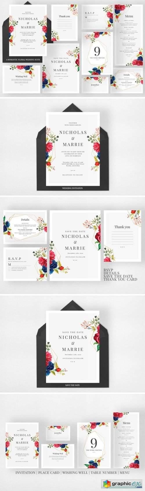 A Romantic Floral Wedding Suite