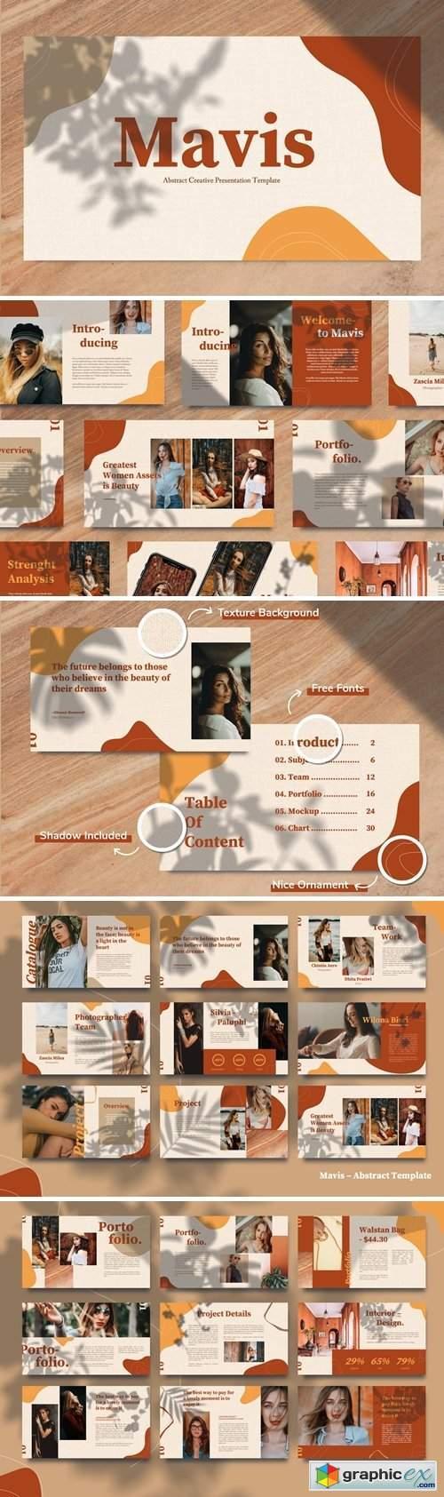 MAVIS - Abstract Lookbook Powerpoint
