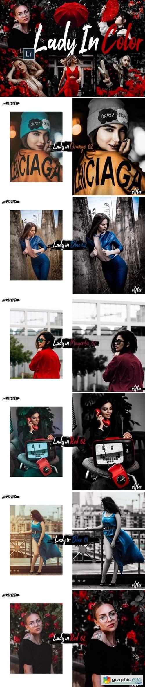 10 Lady in Color Mobile/Desktop Lightroom Preset