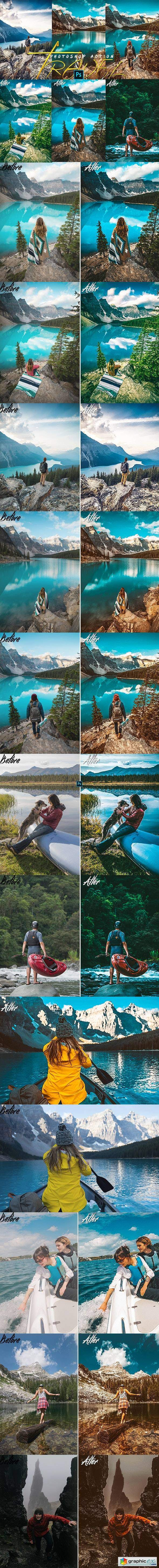 Travels Photoshop Actions