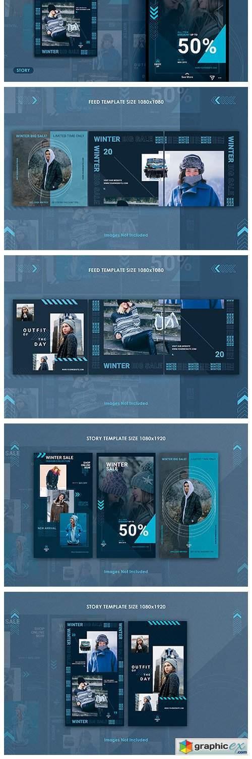 Winter Sale Instagram Feed & Story
