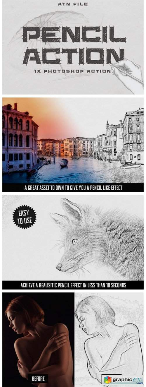 Easy Pencil Effect for Photoshop