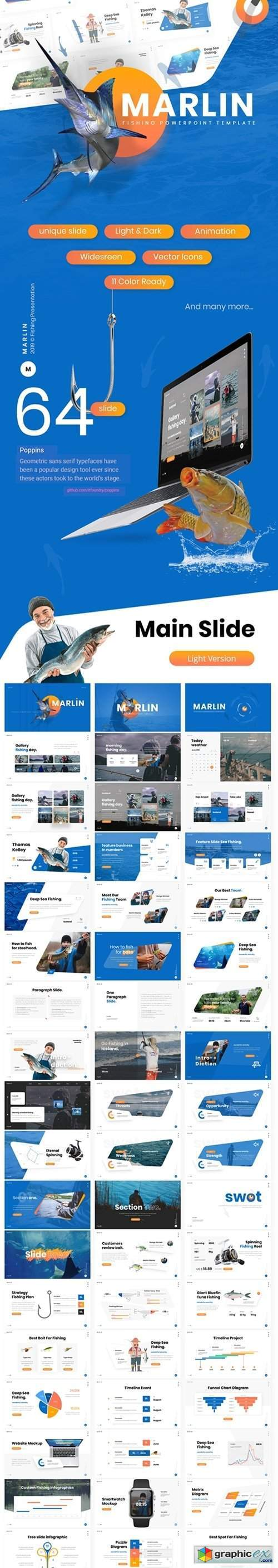 Marlin Fishing Presentation PowerPoint Template
