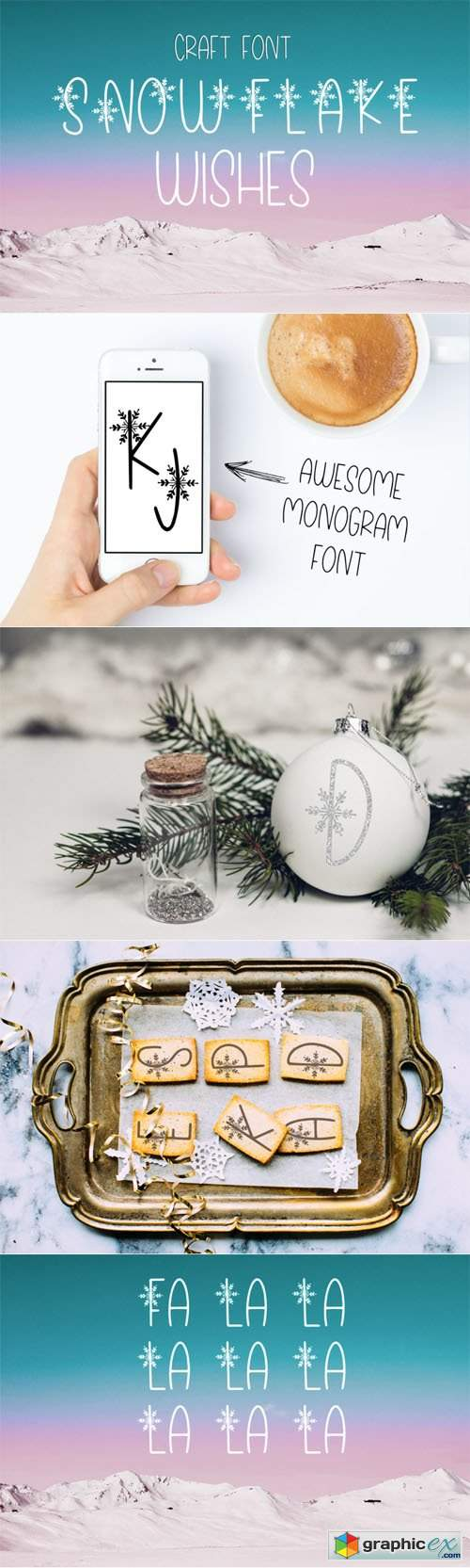 Snowflake Wishes - Craft Font