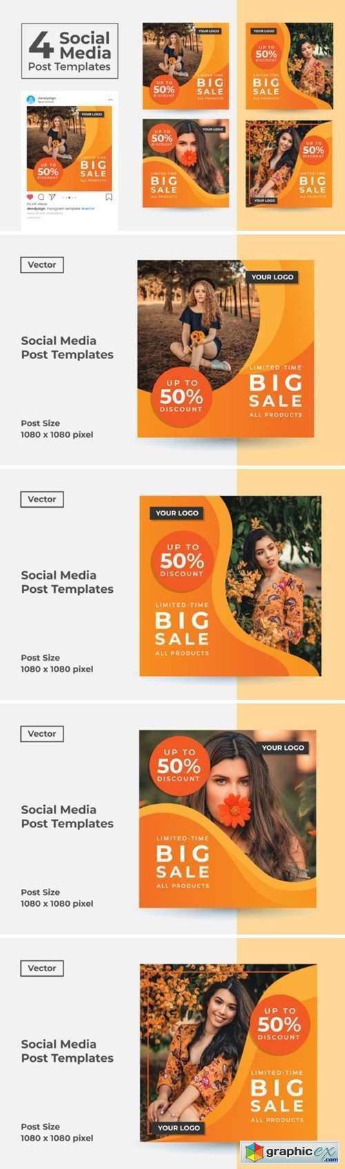 Social Media Post Template Vol 48