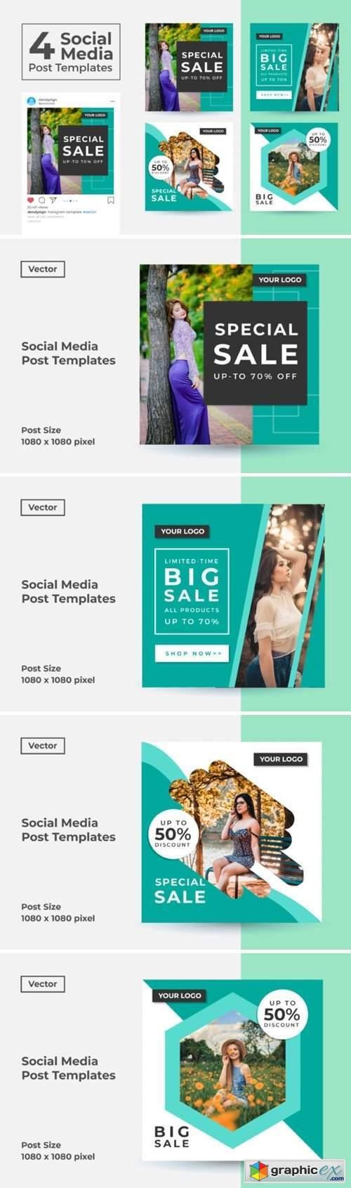 Social Media Post Template Vol 49