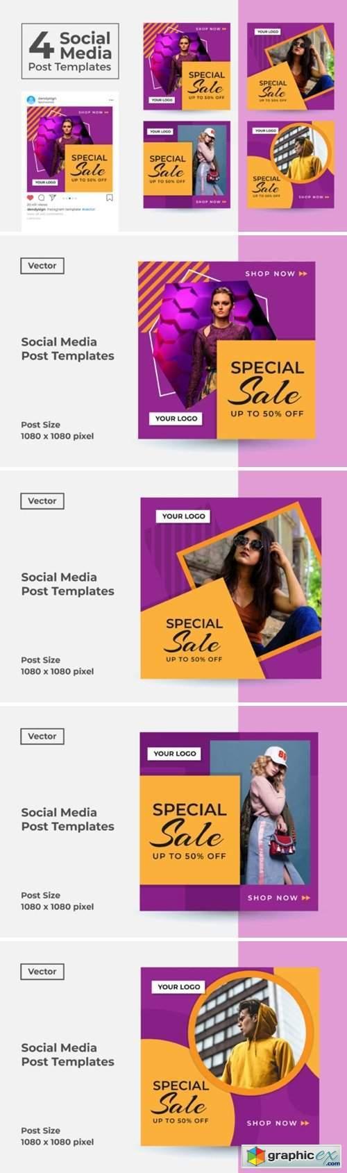Social Media Post Template Vol 50