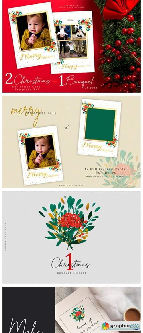 Christmas Card Template 5x7