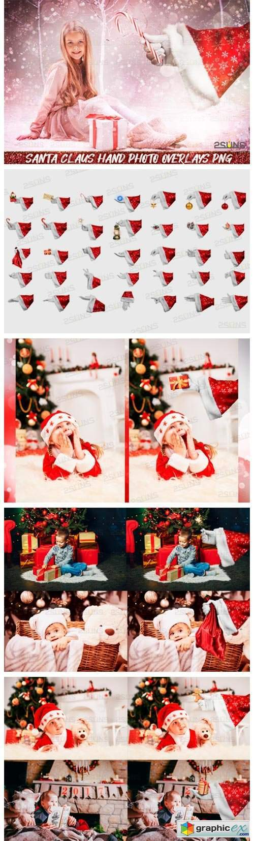 Christmas Overlays Santa Claus Hand