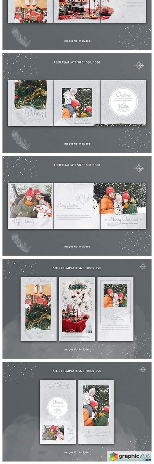 Christmas Instagram Feed & Story Bundle