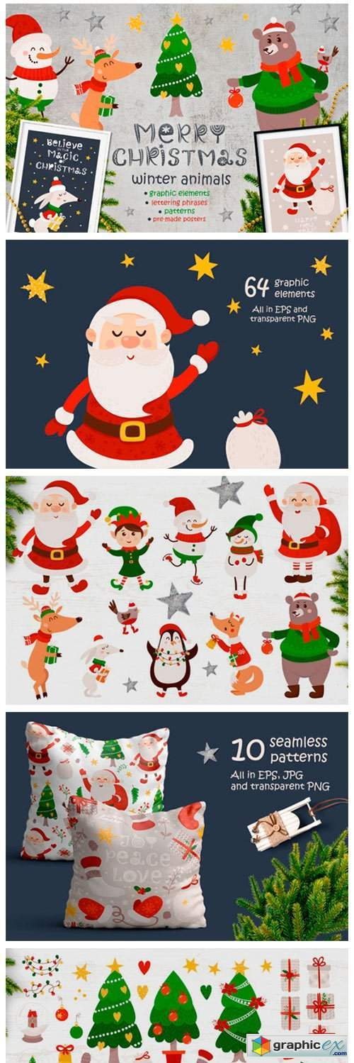 Merry Christmas - Winter Animals