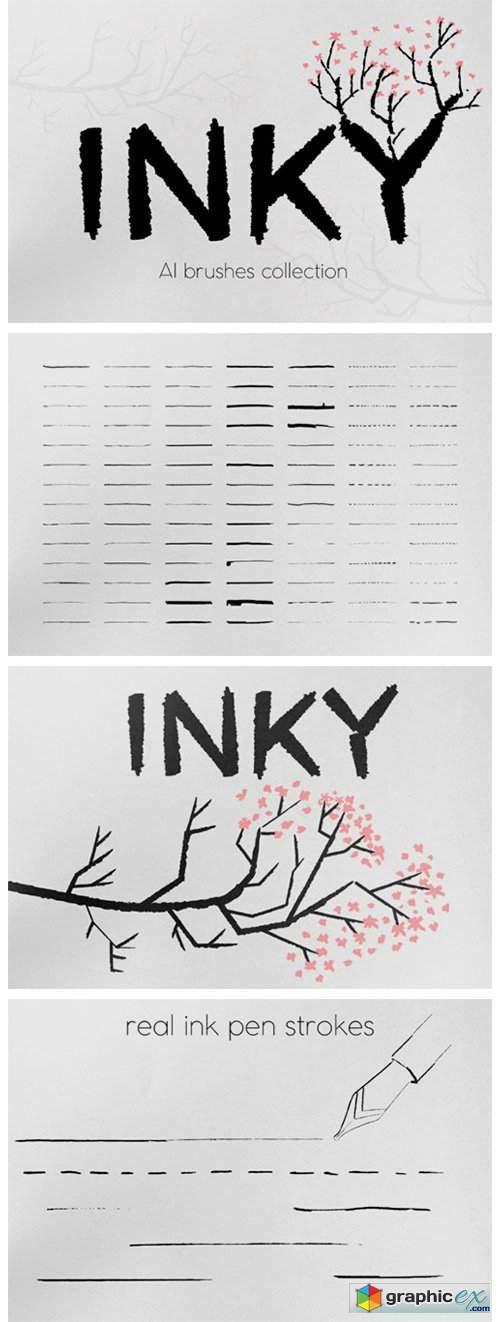 Inky Brushes Set