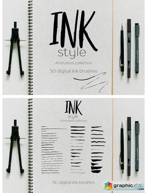 Ink Style Brushes
