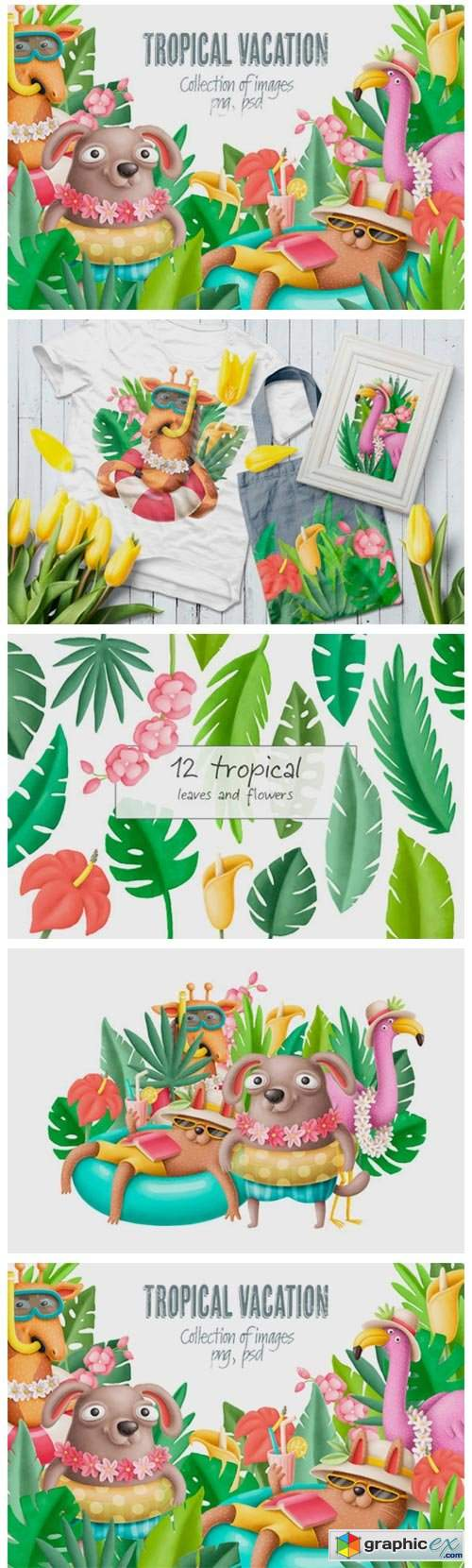 Tropical Vacation Clipart