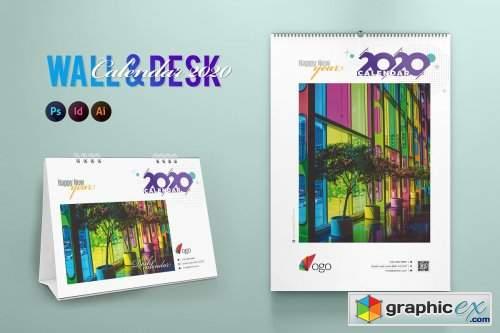 Wall & Desk Calendar 2020