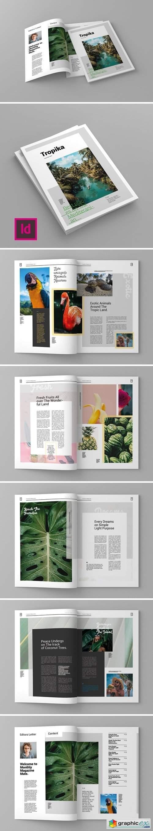 Tropika - Magazine Template