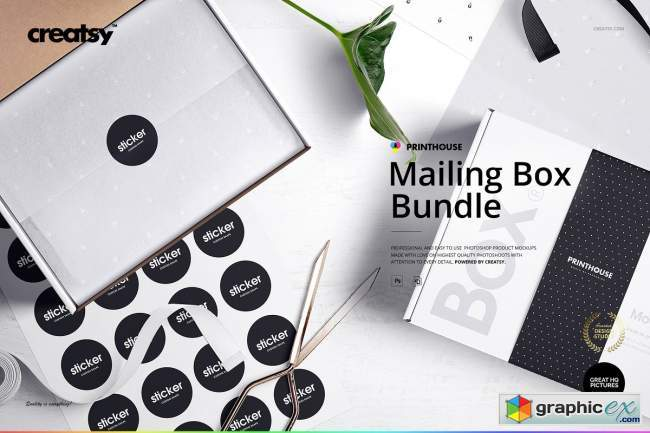 Mailing Box Mockup Bundle