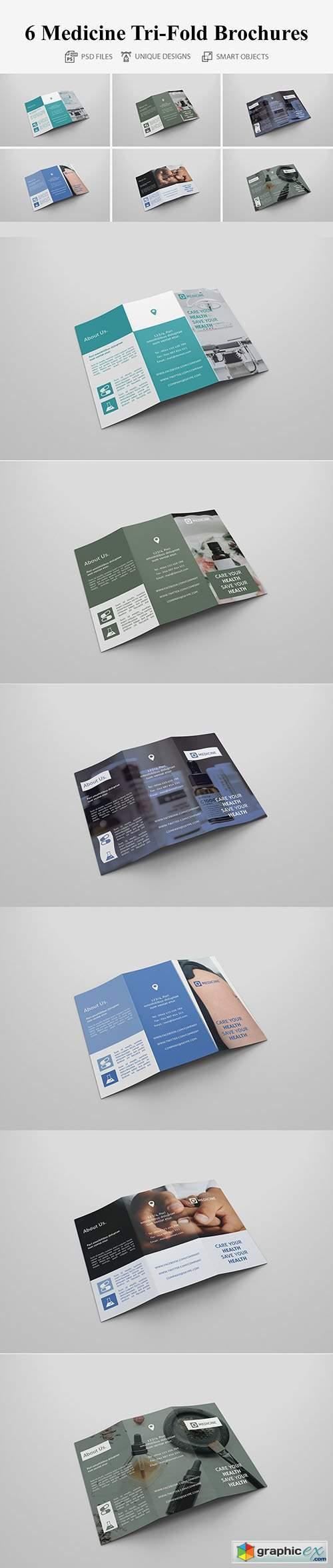 6 Medicine Tri Fold Bochures