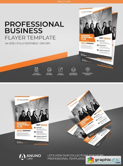 Corporate Business Flyer Template 2396841