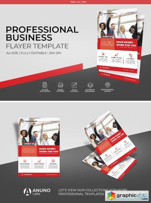 Corporate Business Flyer Template 2396836