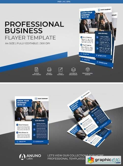 Corporate Business Flyer Template 2396835