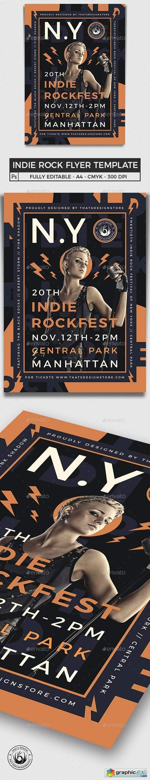 Indie Rock Flyer Template V7