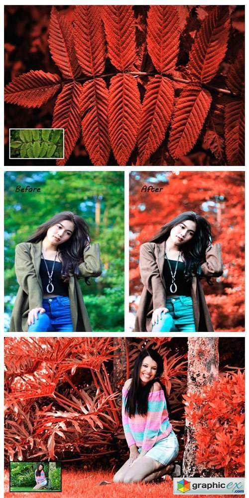 Red Color Effect Ps Action