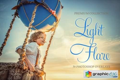Light Flare Photoshop Overlays