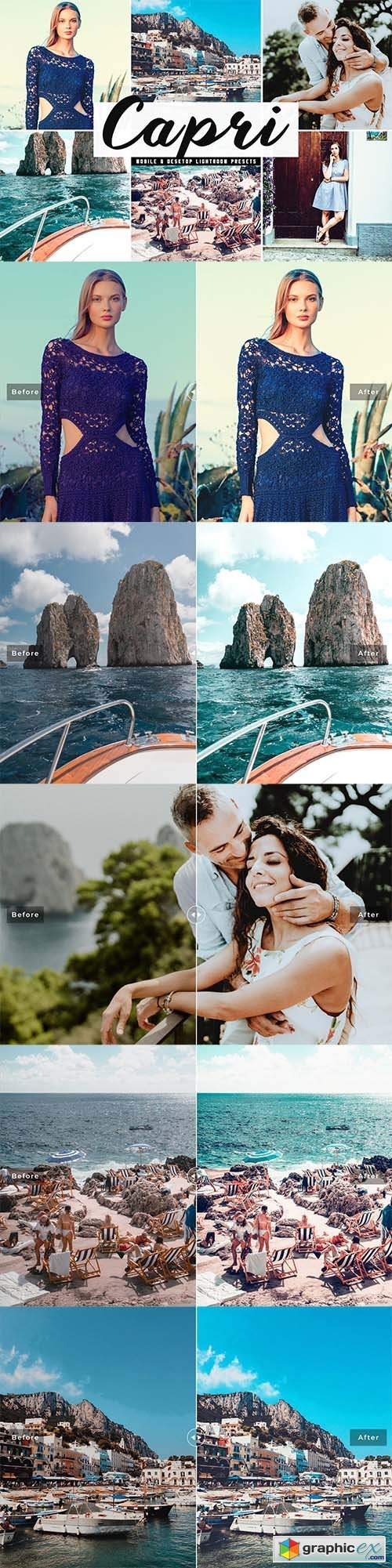 Capri Mobile & Desktop Lightroom Presets