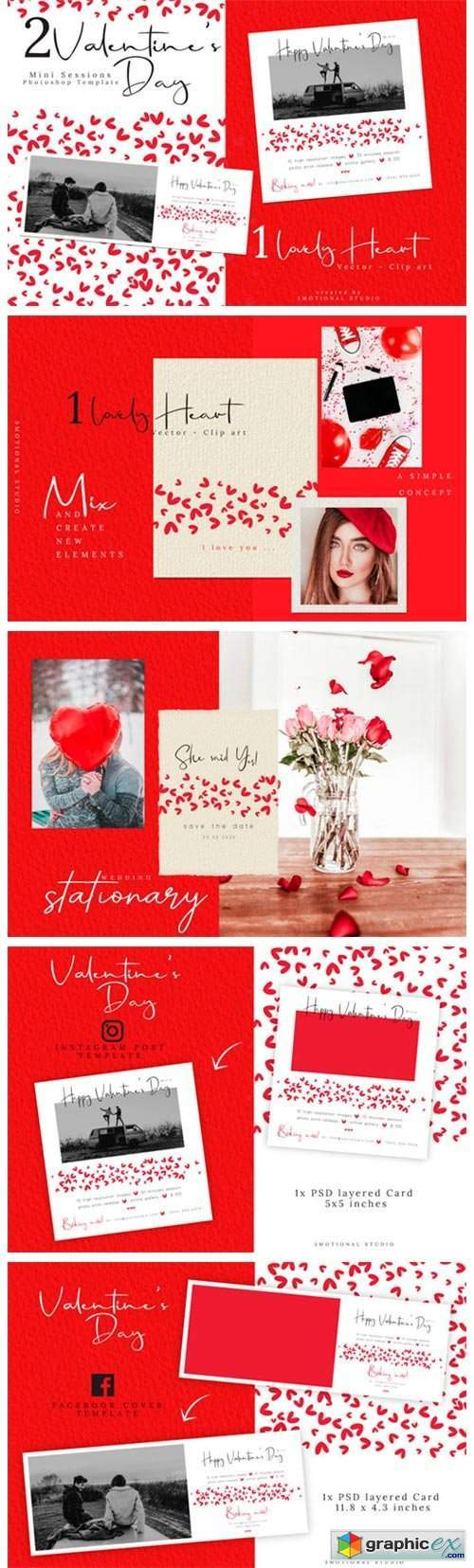 Valentine's Day Mini Session Template