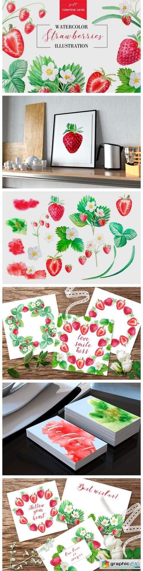Strawberry + Valentine Cards