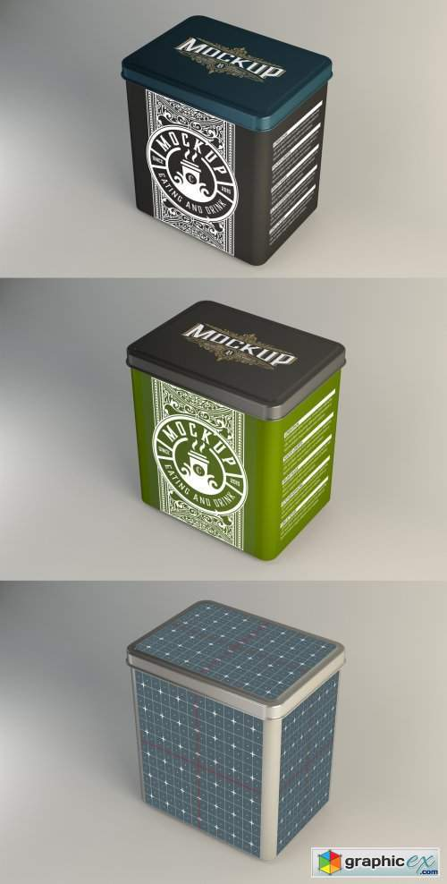 Colored Tin Mockup