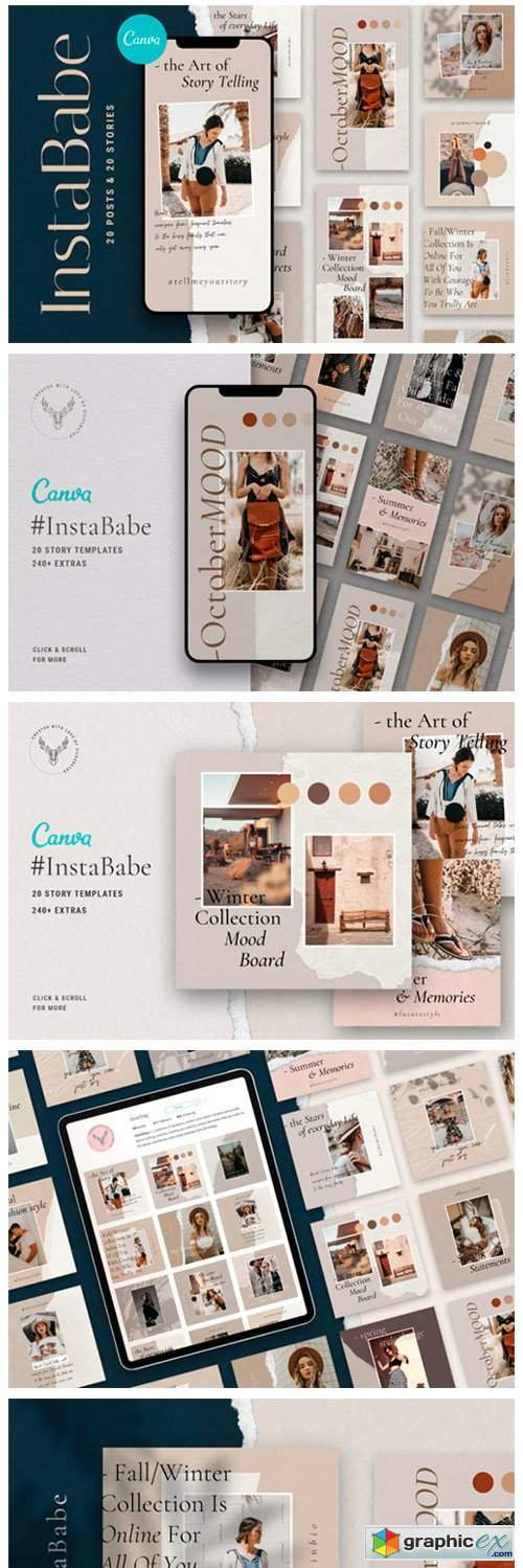 #InstaBabe - Canva Posts & Stories