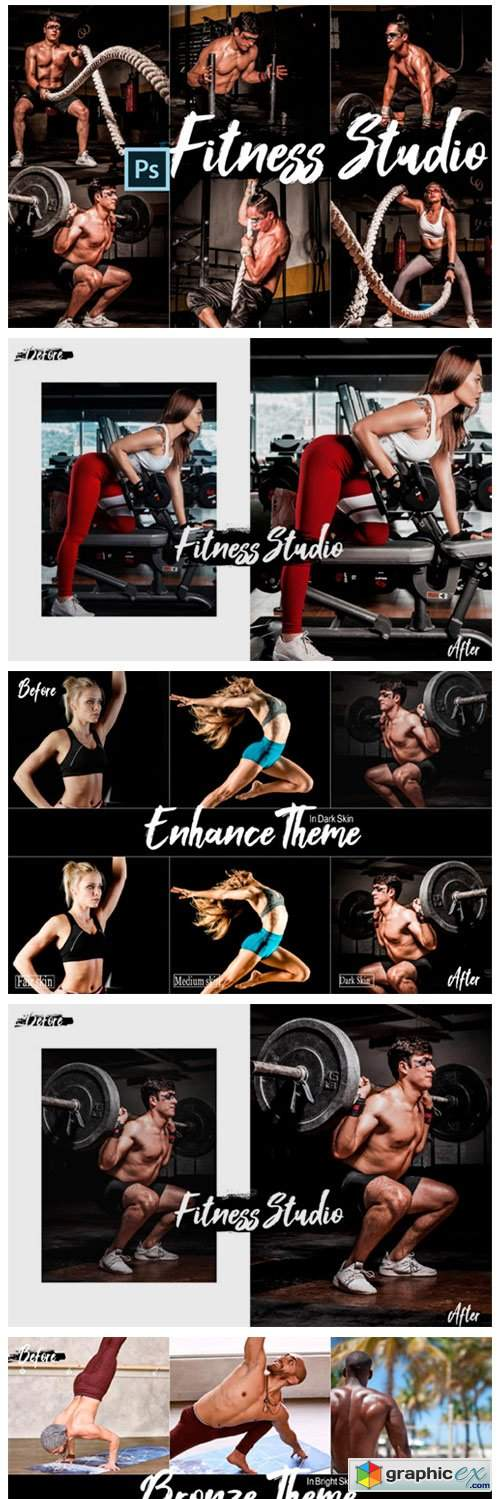 18 Fitness Studio Photoshop Actions