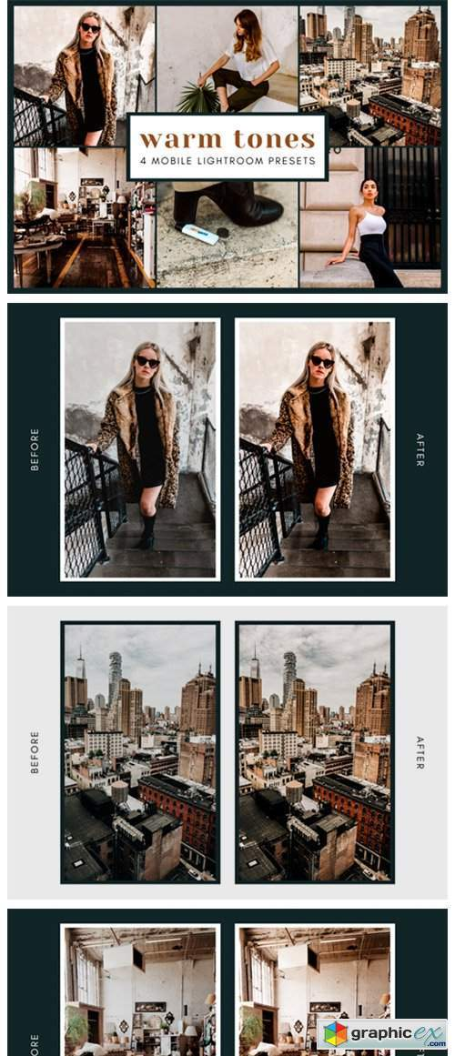 4 Mobile Lightroom Presets | Warm Tones