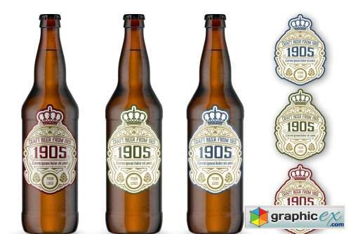 Vintage Style Beer Label Layout
