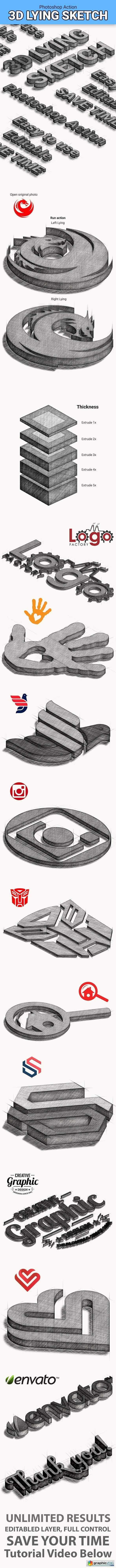 3D Lying Sketch