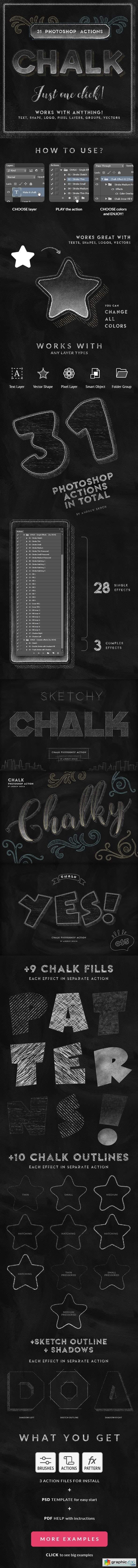 Chalk Photoshop Action 25362744