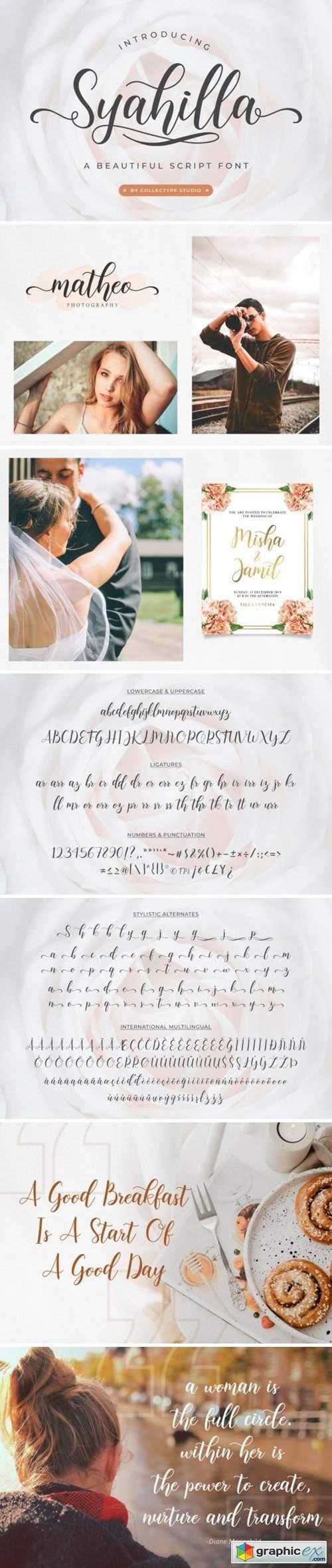 Syahilla Script Font