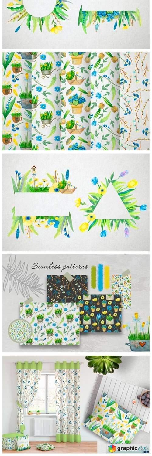 Watercolor Spring Set 2494023