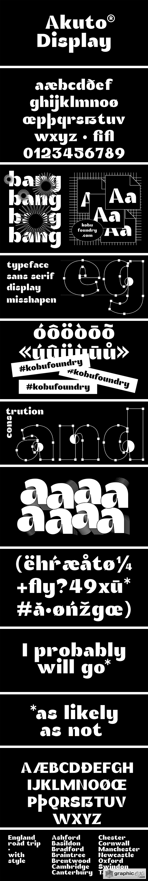 Akuto Display Font