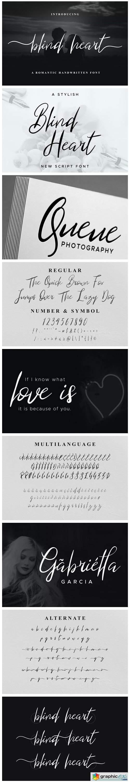 Blind Heart Font