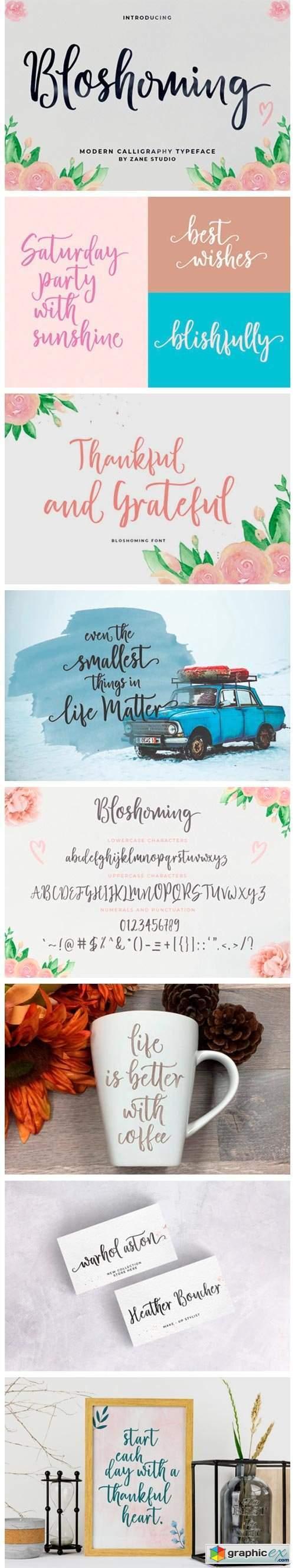 Bloshoming Font