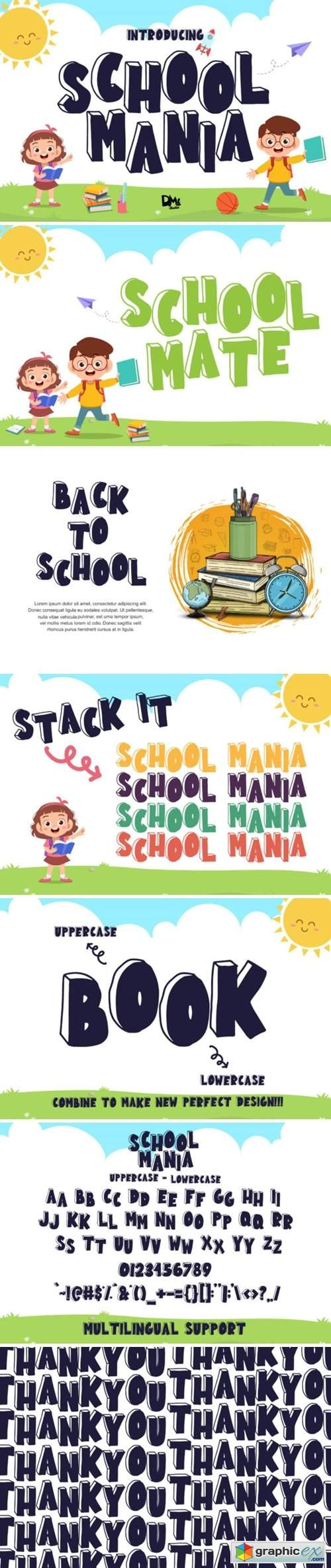 School Mania Font