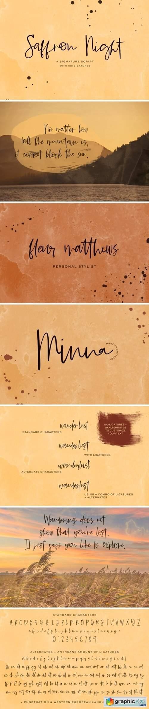 Saffron Night Font