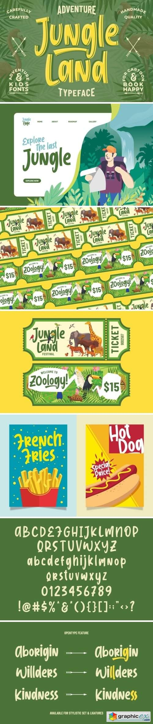 Jungle Land || Kidsventure Font