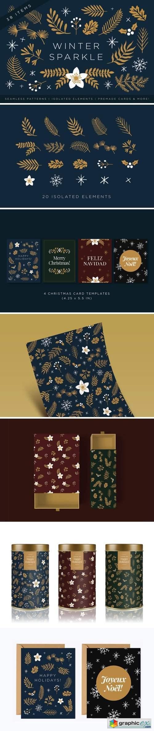Elegant Christmas Graphic Set