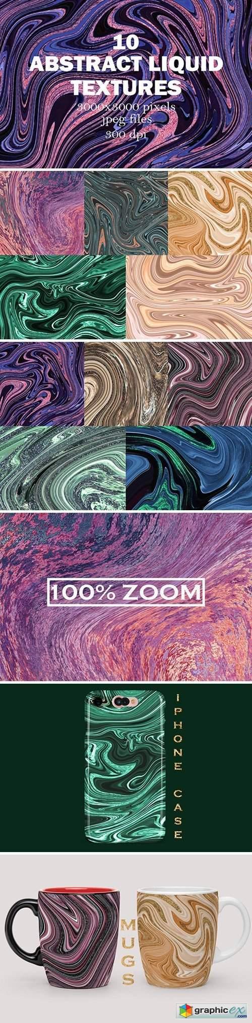 10 Abstract Liquid Textures